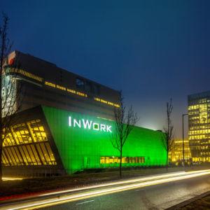 Smartlight verlicht het pand van Inwork in Amsterdam
